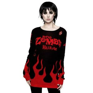 Unisex Killstar Zombie Rob Feet Gothic Six Pullover Punk X Under Strickpullover rEqXSWHrwa