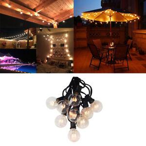 Guirlande lumineuse de Noël G40 25 pieds 25 LED - blanc chaud - intérieur et