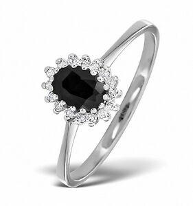 Zafiro-Y-Diamantes-Anillo-De-Boda-Oro-Blanco-Tamano-F-Z-Certificado