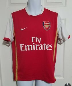 889072c0db1 Nike Fly Emirates Arsenal Jersey Red w White Mens Sz M FREE SHIPPING ...