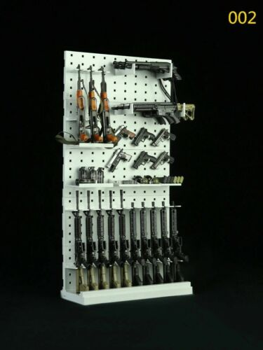 1//6 scale Weapon Rack Display Shelf Assembling Wall 002 For onesixth scene