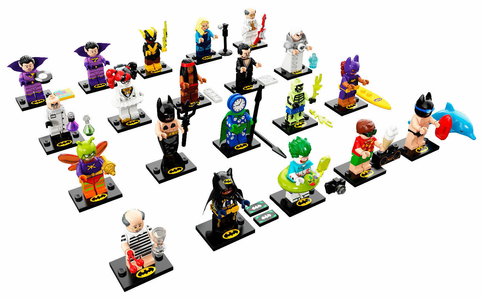LEGO 71020 - 20 MINIFIGURES ALL SERIE 20 COMPLETA BATMAN MOVIE NEW