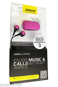 Jabra Clipper Bluetooth Wireless Stereo Headset Retail Packaging Pink Ebay