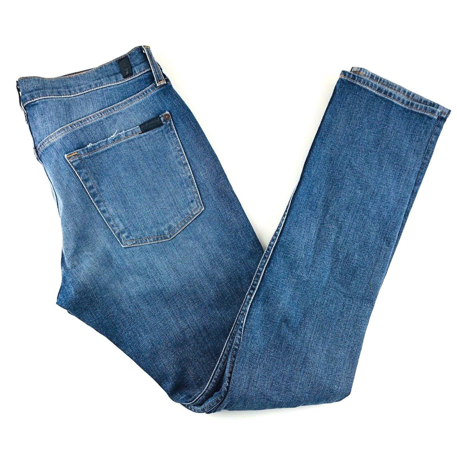 7 for all mankind  paxtyn Skinny Jeans Denim Elástico envejecido hombre 34 36 x33 Nuevo con etiquetas  precios bajos