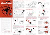 Giant Creepy Crawlers Instruction Sheet For A Mattel Thingmaker
