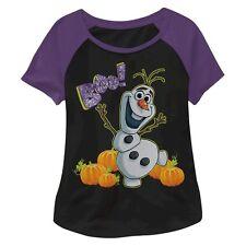 New ! Disney Toddler Girls' Olaf Halloween T-Shirt Black  4T