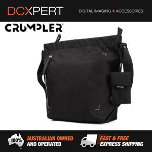 CRUMPLER-DOOZIE-PHOTO-SHOULDER-BAG-SMALL-BLACK-METALLIC-SILVER