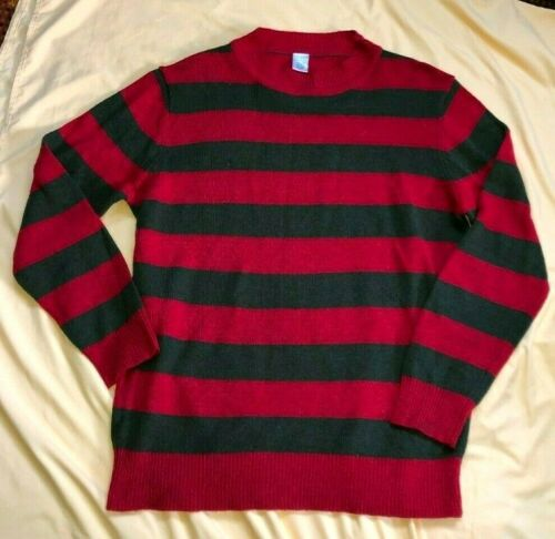 RARE - Vintage FREDDY KRUEGER Mens XL Sweater Red… - image 1