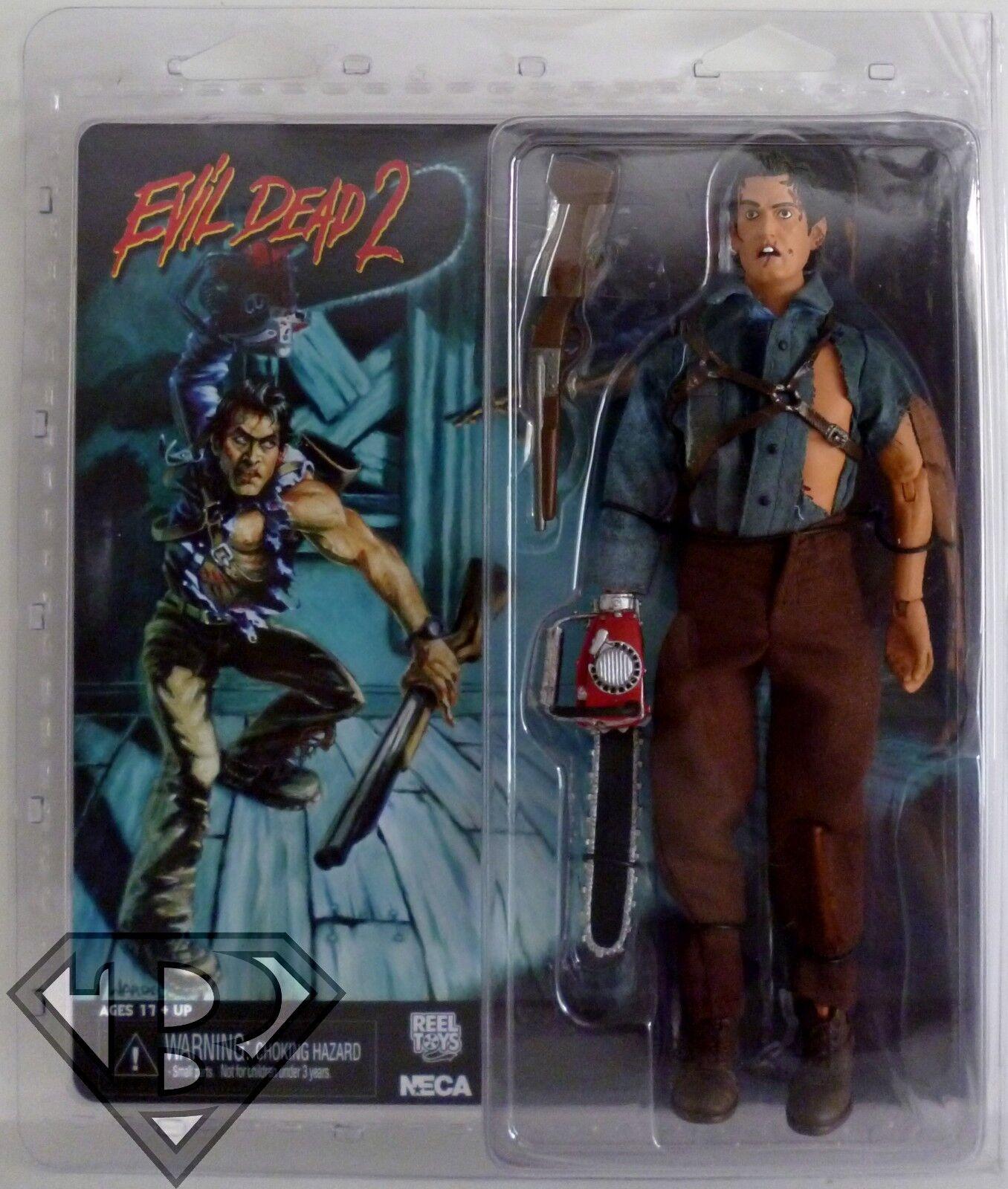 HERO ASH Evil Dead 2 Movie Retro Style 8  inch Scale Clothed Figure Neca 2014