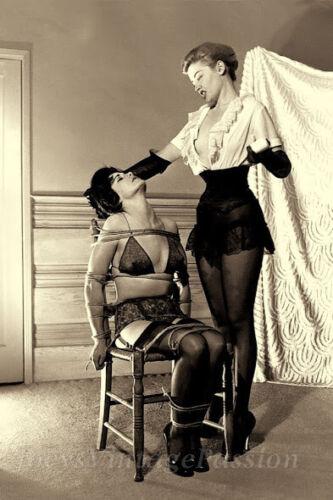 "1950s Bondage Fetish Two Women BDSM Domination Soap Bar of 4/""x6/"" Reprint 83"
