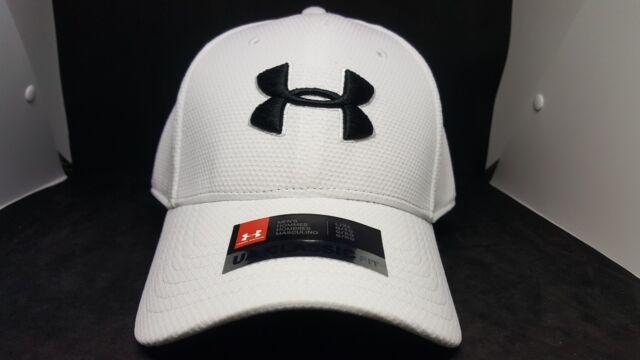 d33c4832 Men's Under Armour 1254123 White L/xl Headwear UA Blitzing II Stretch Fit  Cap