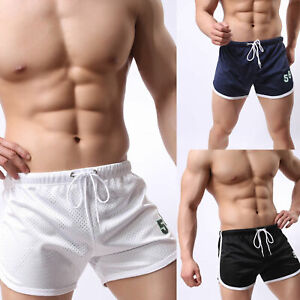 Men-039-s-Summer-Breathable-Shorts-Gym-Sports-Running-Sleep-Casual-Short-Pants-NEW