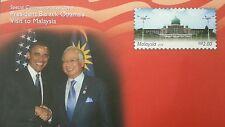 President Barack Obama Visit To Malaysia 2014 FDC Mint (Commemorative Cover) MNH