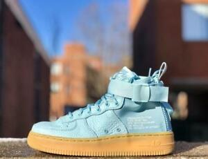 new style 6e887 cb608 Image is loading nike-SF-Air-Force-1-Mid-GS-OCEAN-