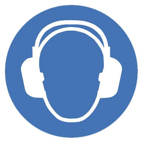Gebotszeichen Gehörschutz benutzen Warnschild 200mm nicht selbstklebendes PVC