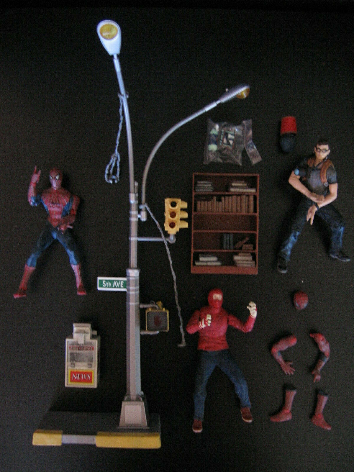 Spider-Man Movie Action Figure Lot 2002 Wrestler Peter Parker Toy Biz Grand Toys
