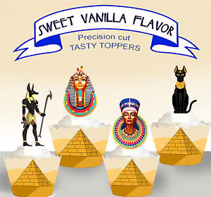 Magnificent Egypt Egyptian Tutankhamun Birthday Party Edible Cupcake Toppers Funny Birthday Cards Online Necthendildamsfinfo