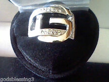 MENS WOMENS GUCCI LINK BUCKLE BAND RING SZ 7 YOUR NAME HAVE A G OR 4 GOD!