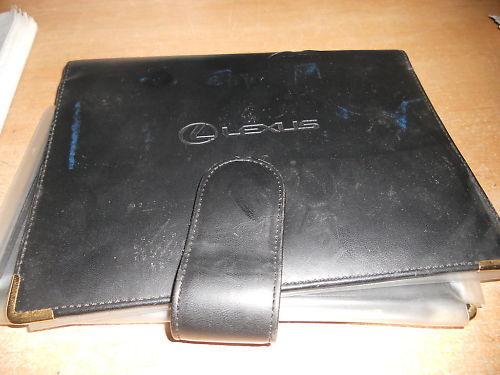 2003 2004 LEXUS OWNERS MANUAL DELUXE CASE ORIGINAL