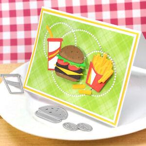 Stanzschablone-Hamburger-Pommes-Oster-Hochzeit-Weihnachts-Geburtstag-Karte-Album