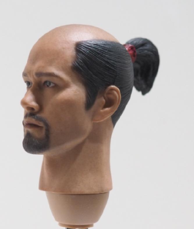 Poptoys Japanese Ashigaru W007  6th Scale Samurai Head Sculpt