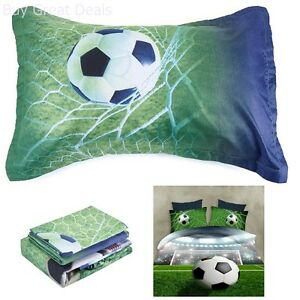 Image Is Loading Alicemall Boys Bedding Sets Full Soccer Ball