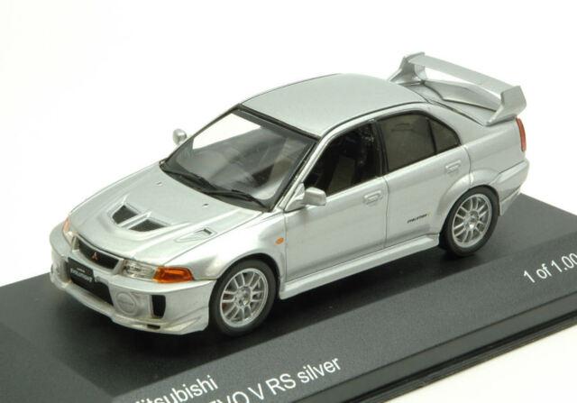 Mitsubishi Lancer Evo V Rs 1998 Silver 1:43 Model WB214 WHITEBOX
