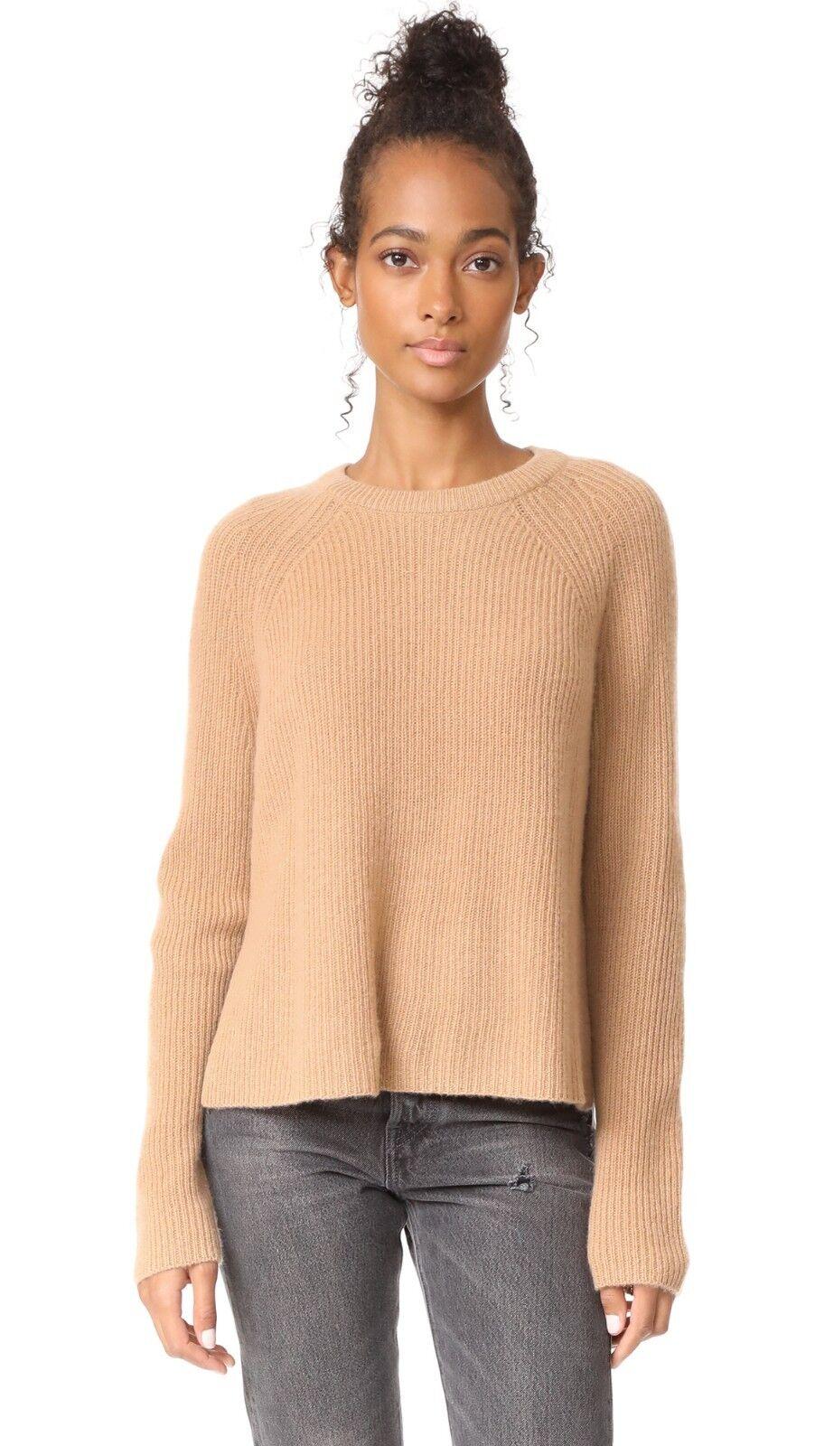 NWT 360 Cashmere Weiß Cashmere Sweater Pecan Größe M  288
