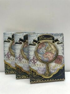 3 Punch Studio Mini Pocket Note Pads 46552 Discover World, Discontinued!
