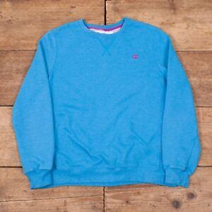 Womens Vintage Champion Blue Crew Neck Sweatshirt Jumper Large 12 ... 17829fedfffd