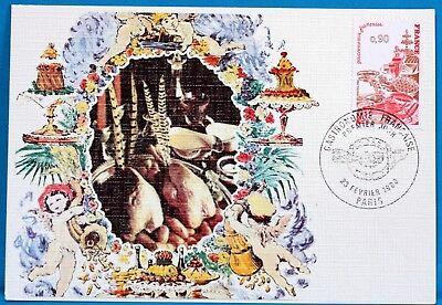 DemüTigen Gastronomie Frankreich Cpa Postkarte Maximum Yt 2077 C Briefmarken