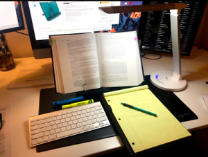 Adjustable Book Document Reading Steel Stand Desk Holder Bookstand
