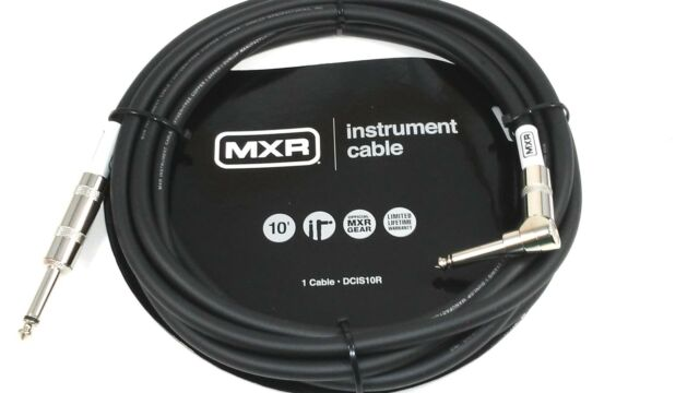Instrument Guitar Cable  MXR 10 feet (~3m)  Right Angle End Lifetime Warranty