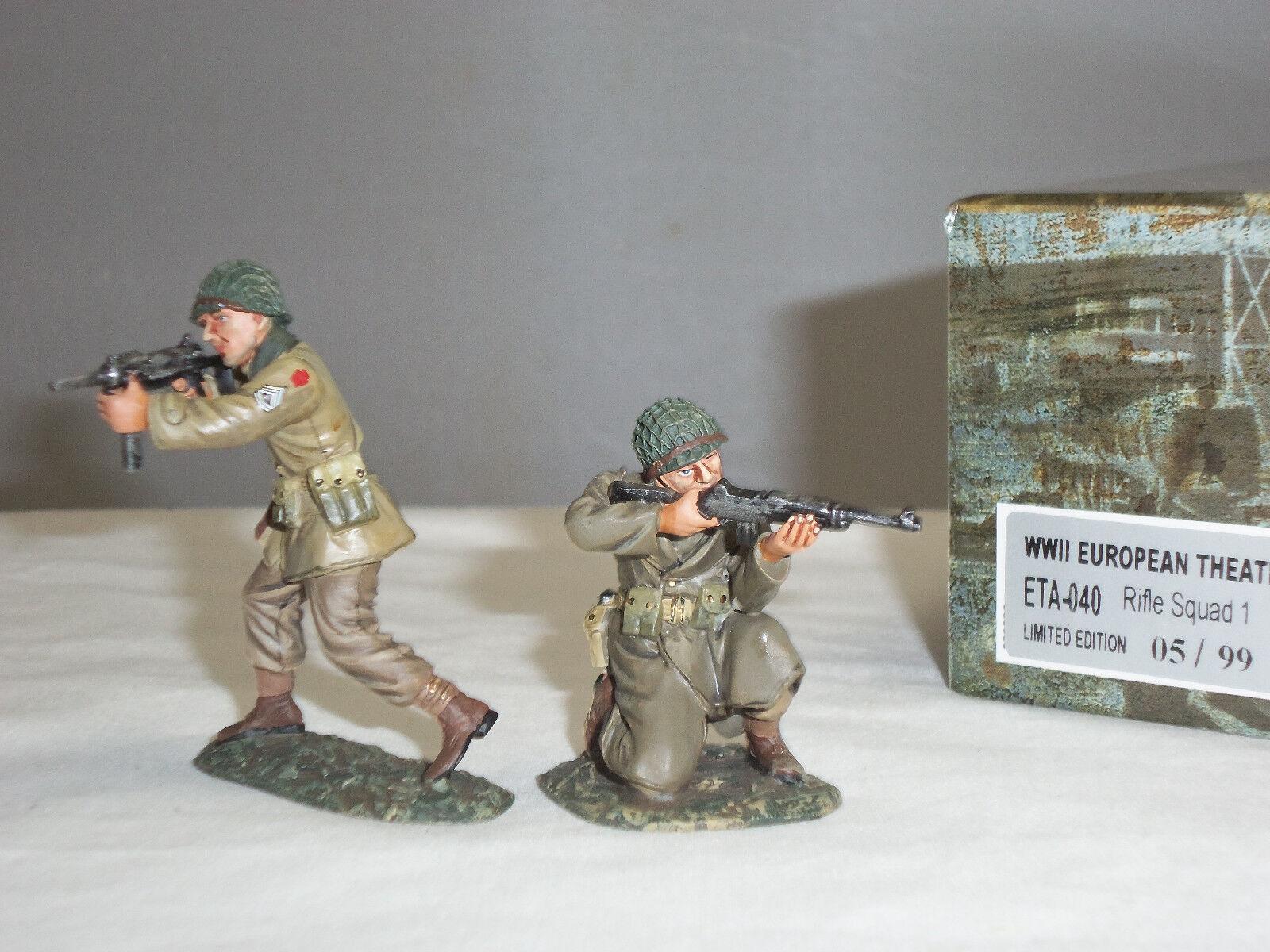FIGARTI ETA040 BRITISH ARMY RIFLE SQUAD WORLD WAR TWO METAL TOY SOLDIER SET