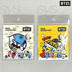 BTS BT21 Official Authentic Goods Deco Sticker Ver2 2SET by Kumhong +Tracking Nu