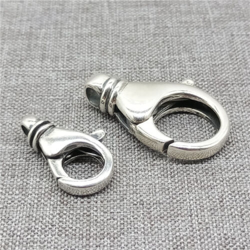 925 Sterling Silver Plain Lobster Clasp Small or Large for Bracelet Necklace
