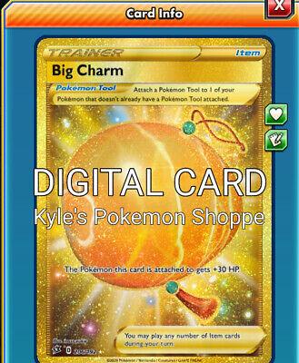 Big Charm SR Rebel Clash Sword /& Shield Pokémon TCG Online PTCGO ONLINE CARD