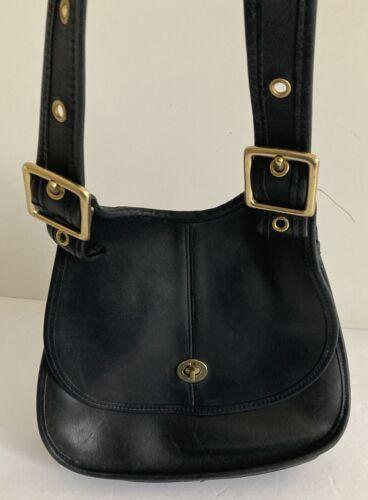 Vintage Coach Leather Crescent Saddle Bag Bonnie C