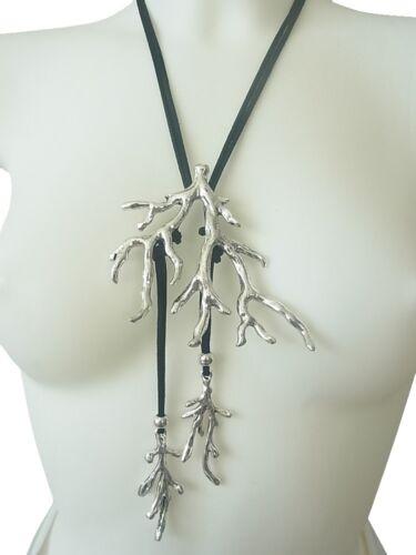 Kette Halskette Lange Kette Leder Design Lebensbaum