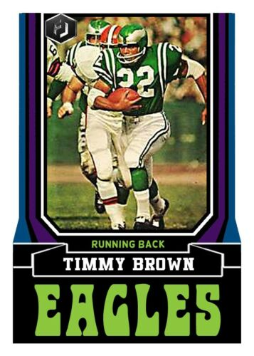 ACEO TIMMY BROWN PHILADELPHIA EAGLES CUSTOM HAND MADE ART CARD