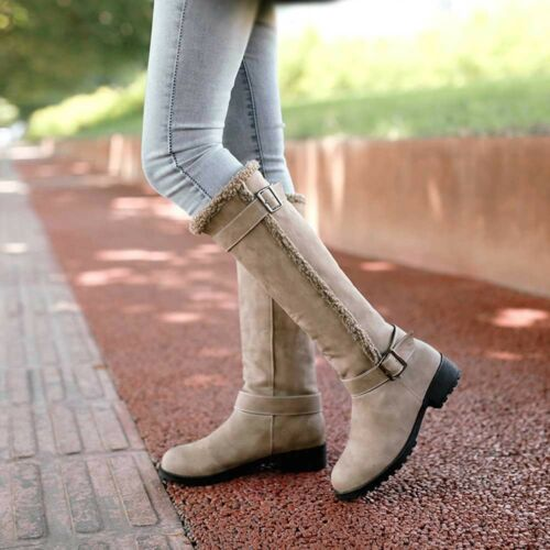 Women Winter Warm Snow Boot Casual Comfortable Plush Winter Knee High Boots