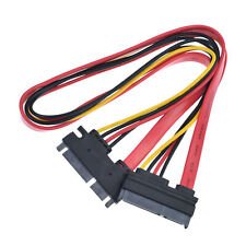 50cm 7 Pin ATA SATA Male to Female UP 90 degree Angle Data Power Extension Cable