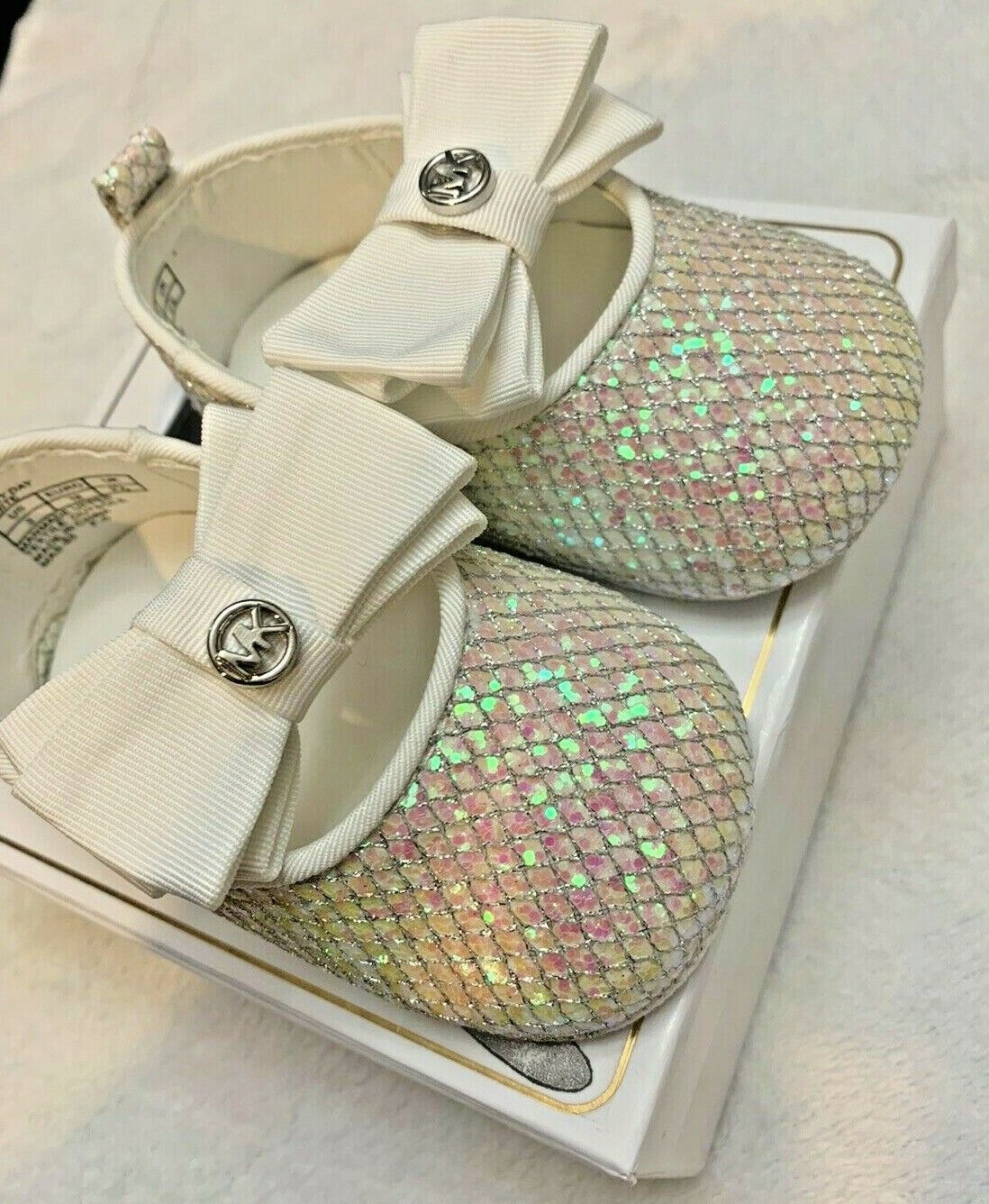 MOIKA Girls Dance Shoes for 3.5-8.5Years Old Kids Baby Infant Toddler Girls Sequins Bling Bowknot Single Shoes Wedding Party Prom Ballroom Latin Shoes Sandals Princess Shoes Dancing Shoes
