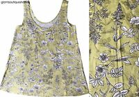 BN NEXT LIME GREEN FLORAL LEAF PRINT TUNIC VEST CAMI TOP SIZE 6~18 ONLY £11.99
