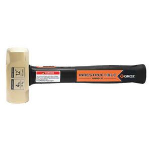 """GROZ 34702 Brass Striking Hammer,4 lb.,12"""""""