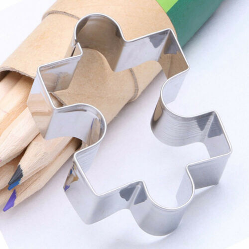 1* Puzzle Shape Cookie Mold Kit Fondant Cake Cutter Decor Tool Stainless-Steel