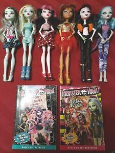 Lot-of-6-Monster-High-Dolls-2008-Frankie-Lagonna-Clawdeen-Draculaura-amp-2-PB