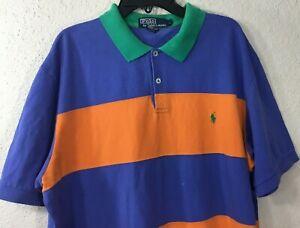 Polo-Ralph-Lauren-Men-039-s-Short-Sleeve-Striped-Shirt-Size-Large