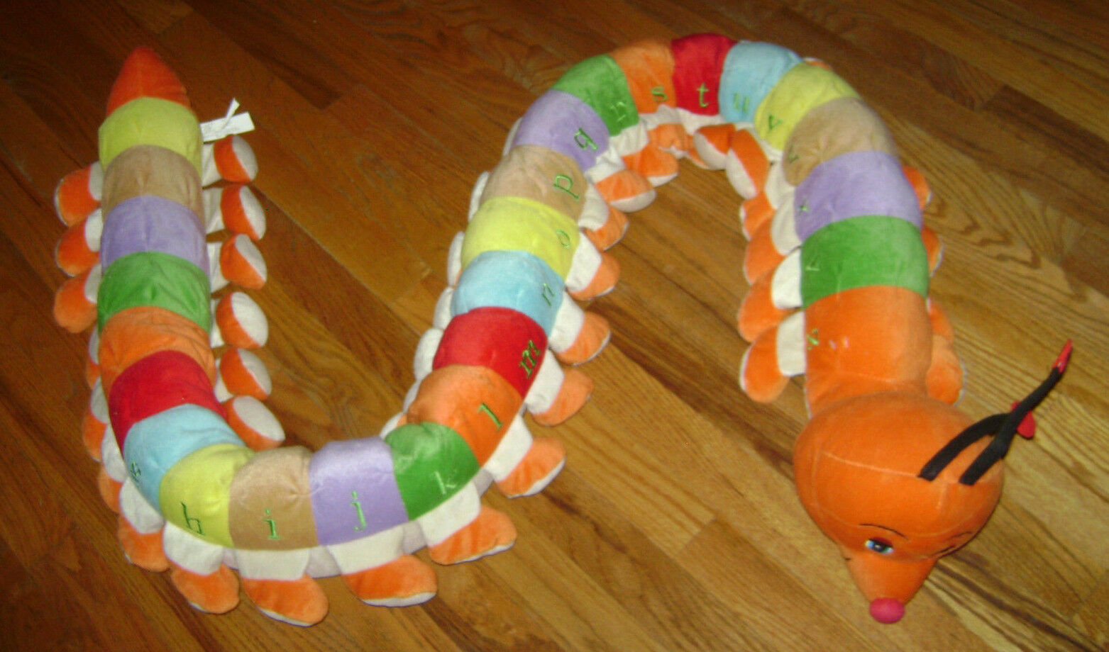 GIANT 80  Long Plush Centipede Caterpillar ABC Alphabet Preschool Learning Toy