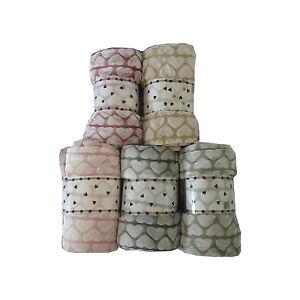 Plaid Pile Cuore Singolo Matrimoniale Shabby Coperta Tinta Unica | eBay